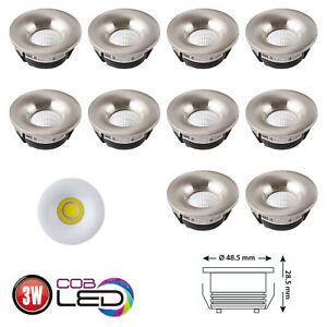 3W-LED-Einbaustrahler-Mini-Spot-Einbauleuchte-Einbauspot-Deco-Lampe-5er-10er-Set