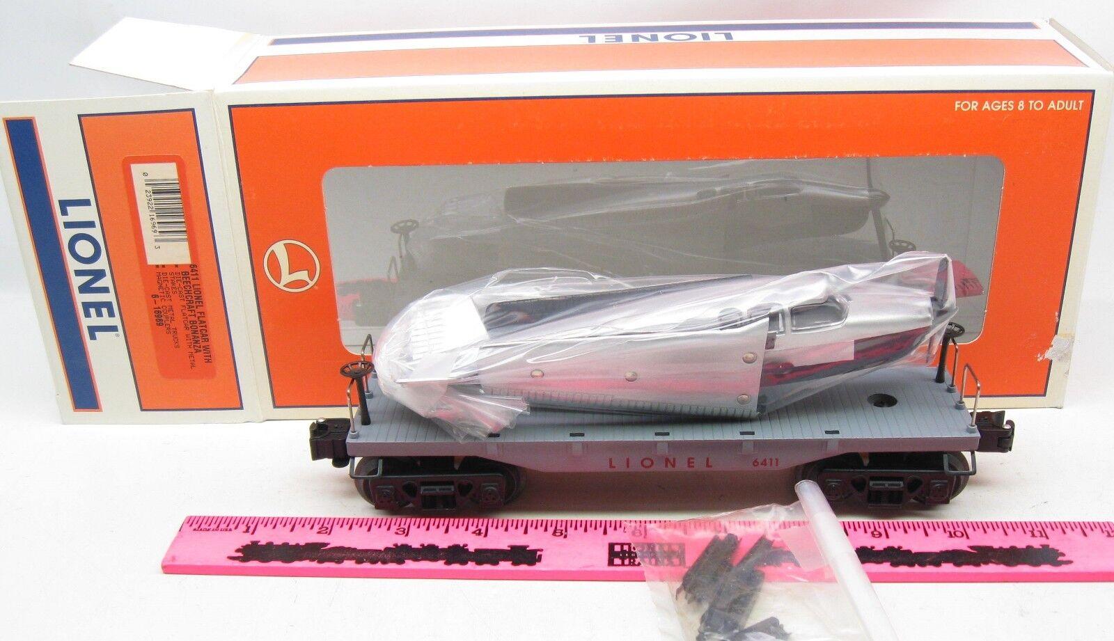Lionel 6-16969 Lionel 6411 Flatcar with beechcraft bonanza