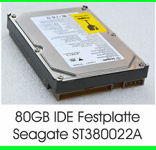 "3,5"" 8,89 CM 80 GB 80GB IDE FESTPLATTE HDD SEAGATE ST380022A HARD DRIVE OK - F21"