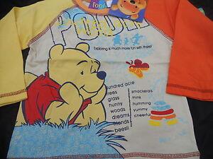Baby Boy & Girls Size  00,0,1 & 2  Winnie the Pooh & Tigger Long sleeve Top Tee
