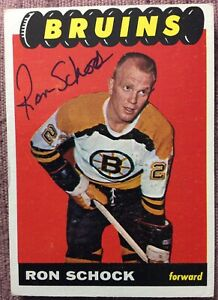 SIGNED-1965-66-TOPPS-36-RON-SCHOCK-ROOKIE-CARD-EX-CONDITION