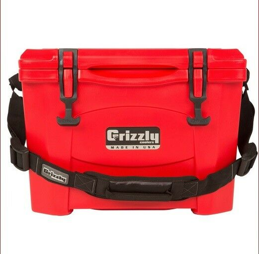 NEW Grizzly G15_RD 15QT Cooler with redoTough Molded Construction - Red