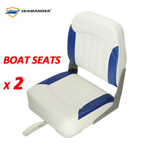Grey,Blue Red,2 seats Seamande Fishing//Hunting Low Back Fold-Down Boat Seat