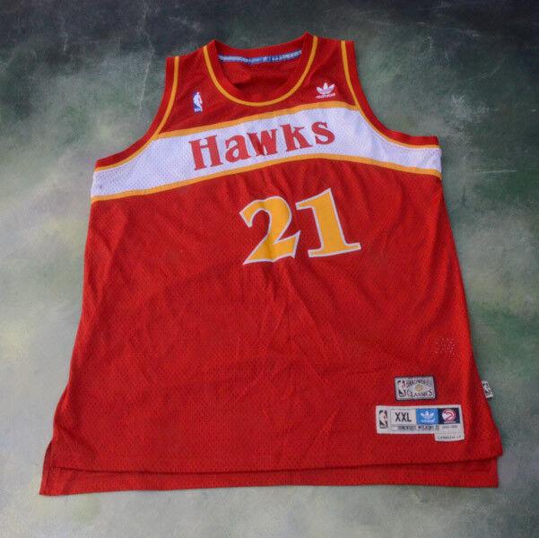 Adidas nba 1985 / 1986, 1986, 1986, atlanta hawks dominique wilkins jersey taglia xxl. 52ddeb