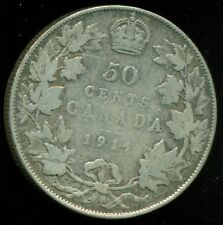 1914 Canada 50 Cent Piece, King George V