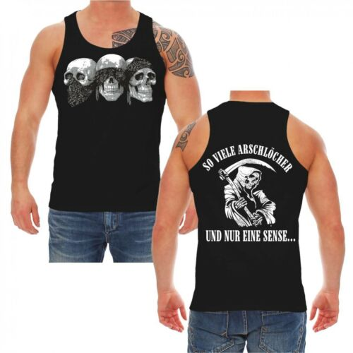 Träger Shirt TankTop So viele Arschlöcher und nur eine Sense sprüche spruch spaß