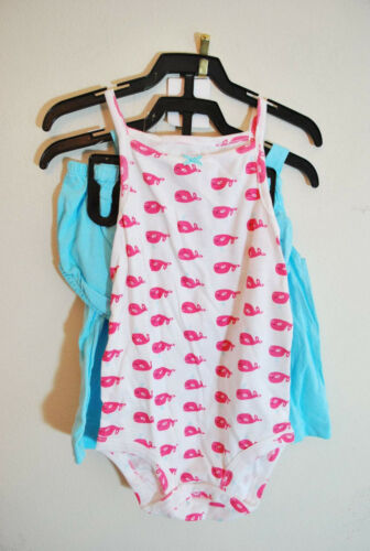 Carter/'s Girls/' 3-piece Diapercover Set Pink Blue Whales