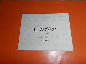 Cours RARE Carte Visite Joaillerie CARTIER Blasons Gaufres Sur