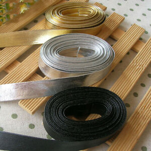44M-Faux-Leather-Bias-Binding-Tape-15mm-Wide-Sewing-Trims-DIY-Crafts-Solid-Multi