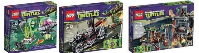 LEGO TMNT Teenage Mutant Ninja Turtles 79100, 79101, 79103 (Assembled)
