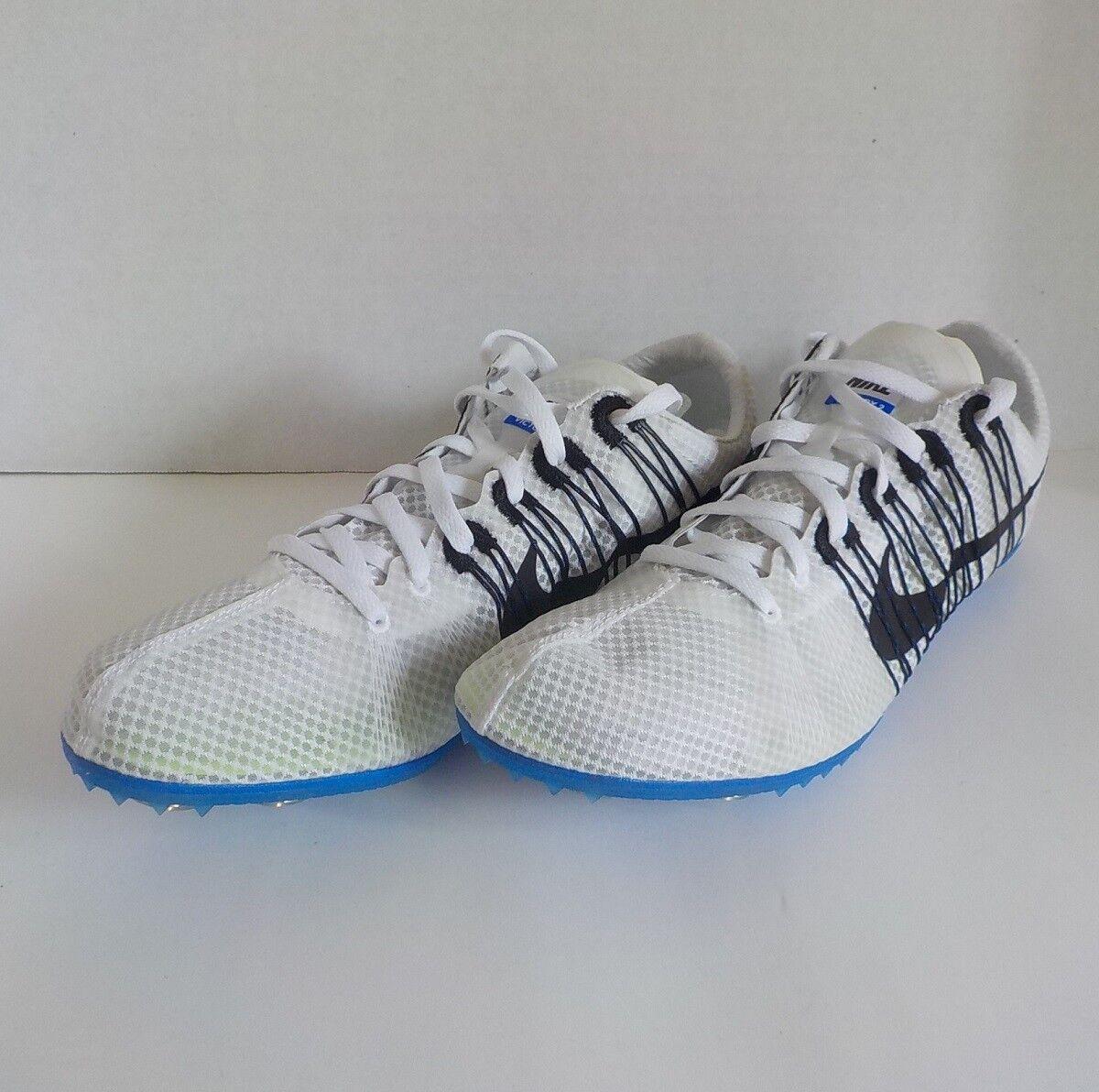 Nike VICTORY 2 Distance Running Chaussures Bleu 555365 100 Hommes 10.5 +Spikes &SRT