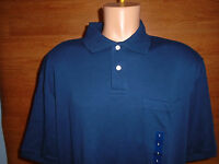 Mens Size Large L Consensus Navy Blue Polo Shirt Casual Cotton Genuine