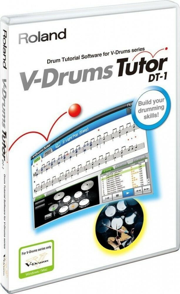 Roland DT-1 V-Drums Tutor Software for Windows and Mac OS F/S from Japan