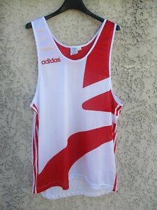 Debardeur-Maillot-running-ADIDAS-vintage-TREFOIL-shirt-sprint-course-jersey-4-L
