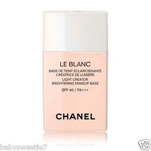 3078a3cdeb1 CHANEL Le Blanc LIGHT CREATOR BRIGHTENING MAKEUP BASE SPF 40 PA +++ ...