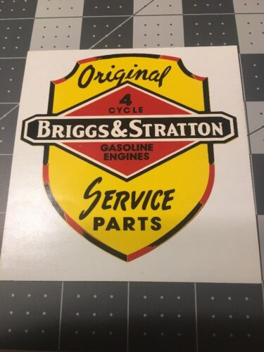 Briggs /& Stratton 1950/'s Dealer Decal For Window Reproduction On Vinyl