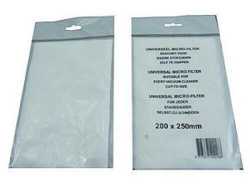 5x Mikrofilter Microfilter Filter Staubsauger 200 x 250mm universal zuschneidbar