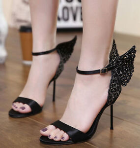 Womens-Ankle-Strap-Butterfly-Open-Toe-High-Heels-Pumps-Sandals-Wings-Party-Shoes
