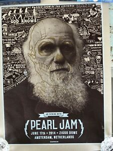Pearl-Jam-Amsterdam-2014-poster-by-Brian-Ewing