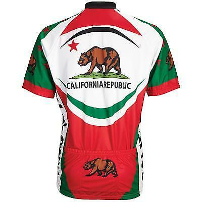 51dd32864 World Jerseys California Bear Womens Cycling Jersey Red white green Small  for sale online