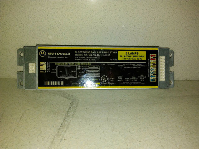 F32T8 F17T8 Lamp 277V 3 Motorola G3-RN-T8-1LL-277 Fluorescent 277-Volt Ballast