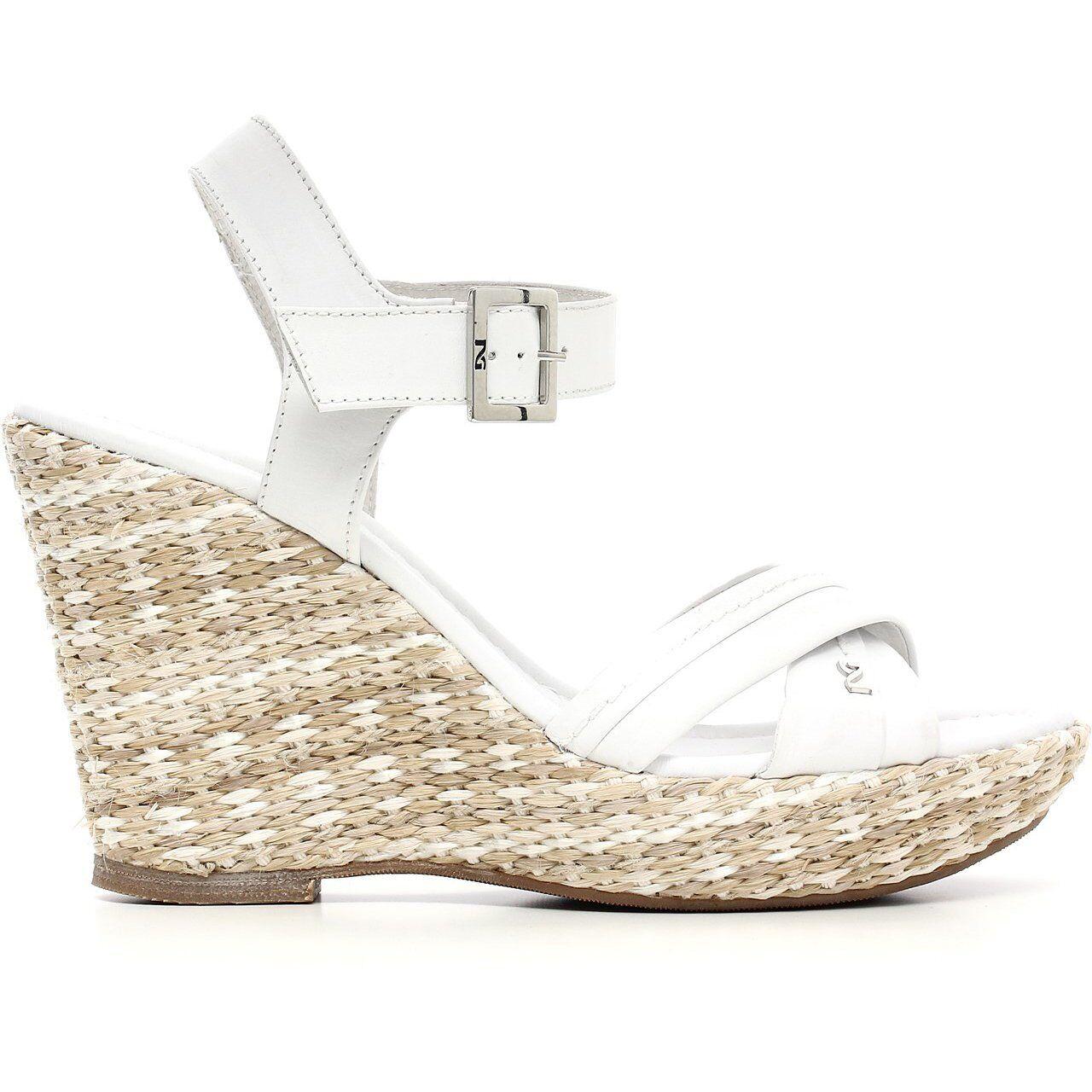 Sandalo donna nuova collezione NeroGiardini P615610D zeppa SOLO 36