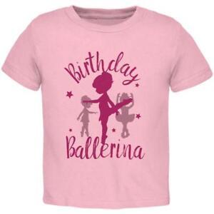 e61ab69dfa86 Birthday Girl Ballerina Toddler T Shirt