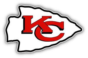 Kansas City Chiefs Nfl Football Logo Car Bumper Sticker 3 5 6