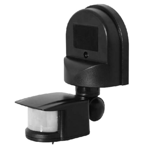 En Dehors De automatique PIR Motion Sensor Switch pour extérieur mur de sécurité noir clair