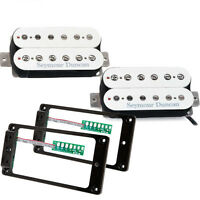 Seymour Duncan Sh-pg1 Pearly Gates Hb Set White W/ts-2 Triple Shot Set Black