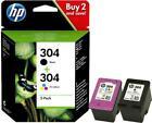 HP 3JB05AE Combo 304 Tri-colour & Black Ink Cartridges Twin Pack