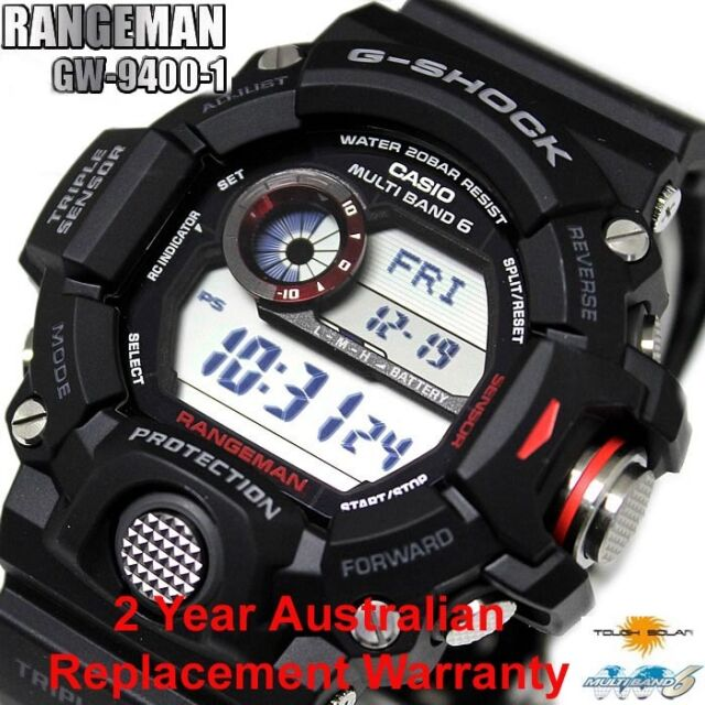 CASIO G-SHOCK MENS WATCH RANGEMAN GW-9400-1 FREE EXPRESS GW-9400-1DR 2Y WARRANTY