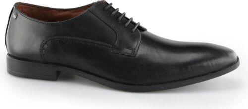 Base London Penny Homme en Cuir Respirant Doublure Bureau Derby à Lacets Chaussures