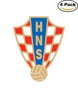 Croatia National Team Soccer Football Decal Diecut Sticker 4 Stickers