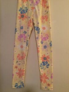 fb422a954b7cdc Image is loading LuLaRoe-Kids-Leggings-Yellow-Multicolor-Pastel-Floral-Size-