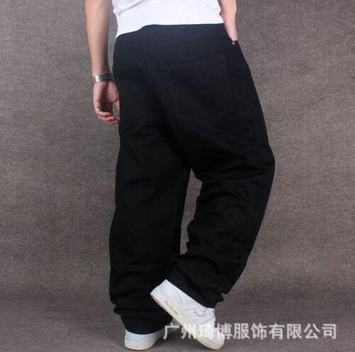Mens HIP HOP Pants Loose Baggy Denim Jeans Skateboard Streetwear Dance Trousers