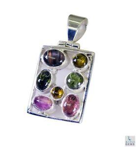 cute-Tourmaline-925-Sterling-Silver-Multi-Pendant-Natural-jewellery-US-gift