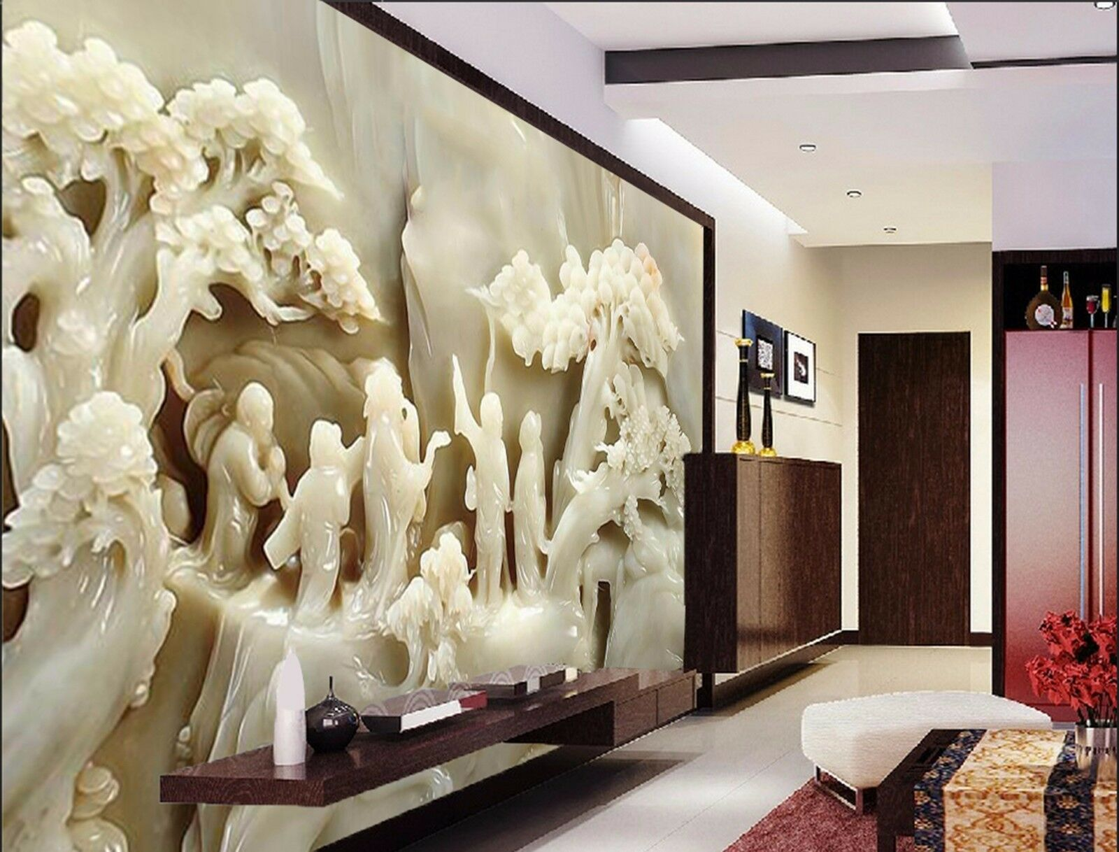 3D Jade tree people 242 Wall Paper Wall Print Decal Wall Indoor Murals Wall US