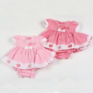 23d882430 Premature Baby preemie Girl Dress set Hat Pants Tiny pink Gingham ...
