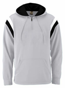 Augusta-Sportswear-Men-039-s-Long-Sleeve-Half-Zip-Winter-Hooded-Sweatshirt-5529
