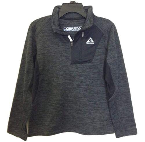 *Gerry Kids Youth Boys Quarter Zip Lightweight Fleece Lined Small 7//8 Black