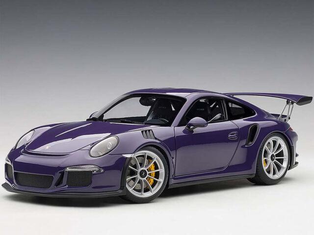 Autoart Porsche 911 991 GT3 RS 118 Model Ultraviolet with Silver wheels  78169