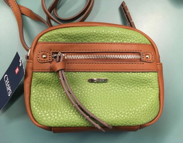 Chaps Parker Collection Crossbody Purse Avocado New