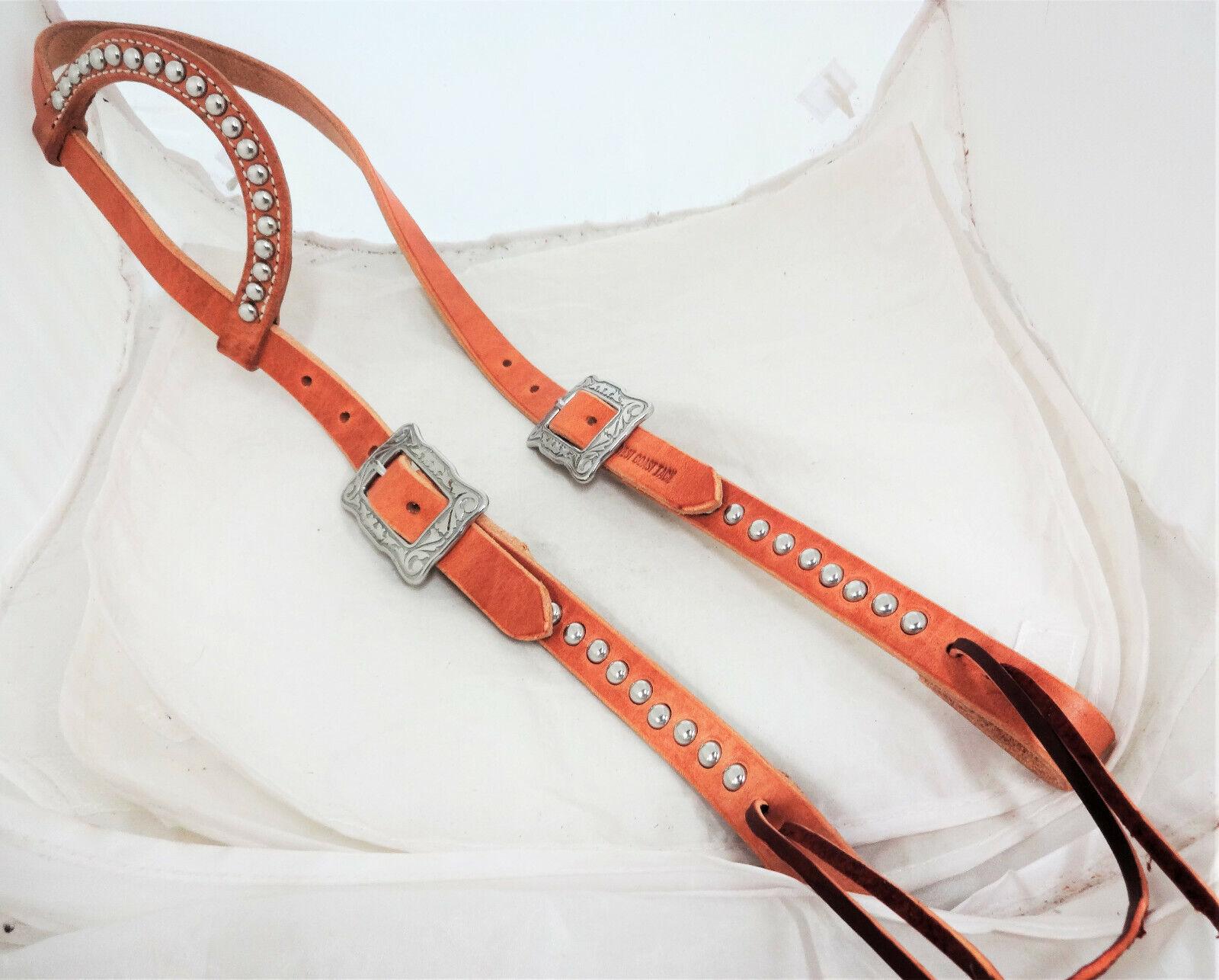Hermann Oak Harness Leather Spotted One Ear Headstall Horse Tack Jeremiah Watt