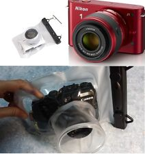 Camera-waterproof-underwater-case-LONG-LENS-for-Canon-G1X-Pentax-Q-18-55mm  Cam