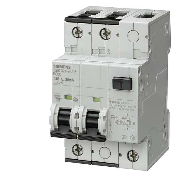 Siemens FI LS-Schalter 5SU1324-7FA40 IP20 Leitungsschutz Schutzschalter | In hohem Grade geschätzt und weit vertrautes herein und heraus