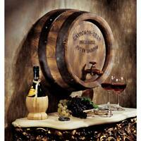 French Vineyard Vintage Wine Barrel With Tap Wall Sculpture Sauvignon Frieze