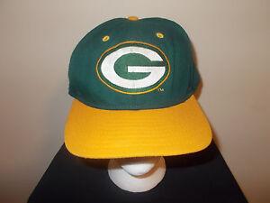 VTG-1990s Green Bay Packers New Era Dupon Visor low profile snapback ... 9afa4d9cf4c
