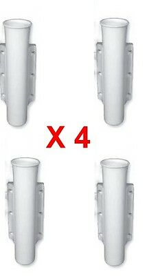 Parts & Accessories Rod Holders X 4 Side Mount White