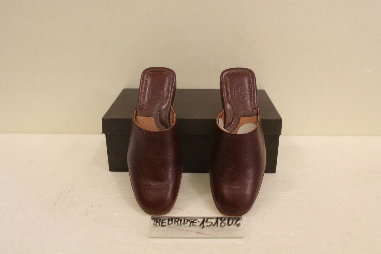 Pantofole in Pelle- Marronee- COD.151802 The Bridge